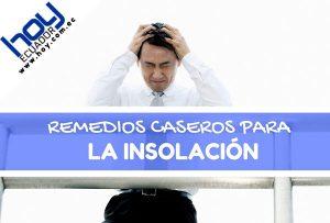 remedios caseros para la insolación en la cabeza