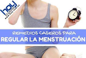 Remedios caseros para Regular la Menstruación