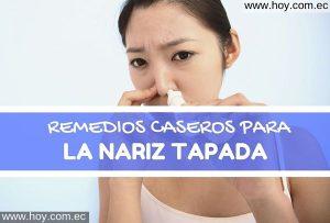REMEDIOS NATURALES PARA LA NARIZ TAPADA