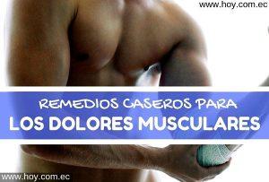 remedios naturales para el dolor de los musculos